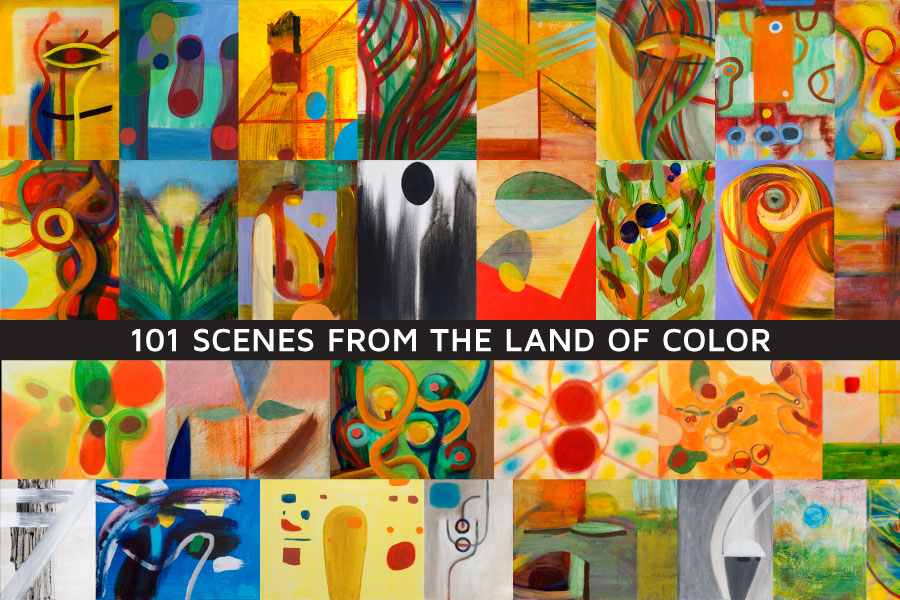 """101 Scenes from the Land of Color"" paintings by Orin Buck"