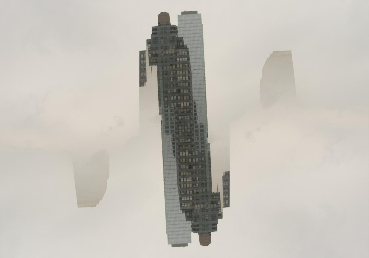 Cloudscraper, 2007, digital photograph photoshopped by Orin Buck.