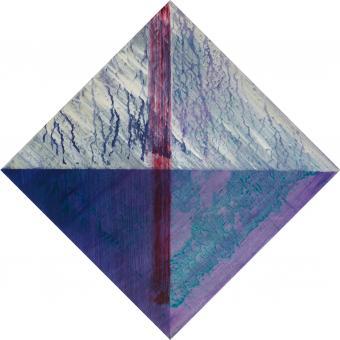 "Diamond Horizon, 2016, acrylic on canvas, 17""x17"""
