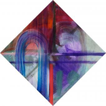 "Current, 2016, acrylic on canvas, 12""x12"""