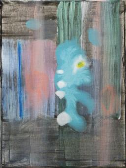 """Painting by Orin Buck, Sea Creature, 2018, acrylic on canvas, 12""""x9"""""""