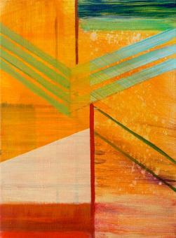 "Joint, 2016, acrylic on canvas, 12""x9"""