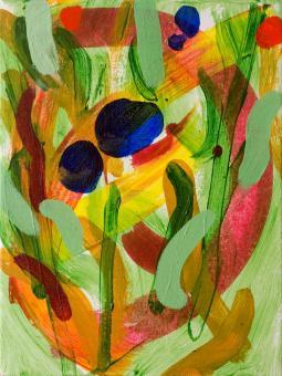 """Garden, 2015, acrylic on canvas, 12""""x9"""""""