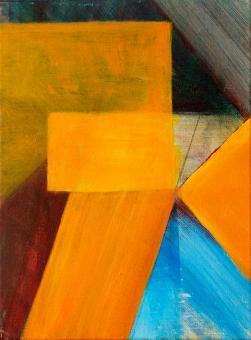 "Golden Pavilion, 2015, acrylic on canvas, 12""x9"""