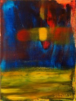 "Dark Passage, 2016, acrylic on canvas, 12""x9"""