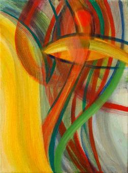 """Dancer, 2015, acrylic on canvas, 12""""x9"""""""