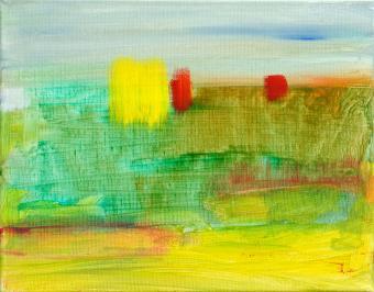 "Landscape, 2015, acrylic on canvas, 8""x10"""