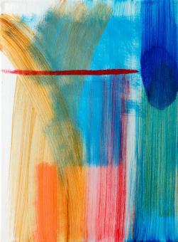 "New Stroke, 2016, acrylic on canvas, 12""x9"""