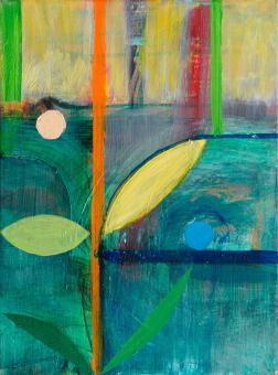 Hiden Sun, 2016 painting by Orin Buck