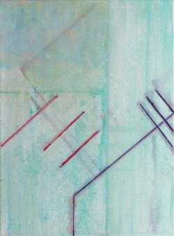 "Seeking, 2016, acrylic on canvas, 12""x9"""
