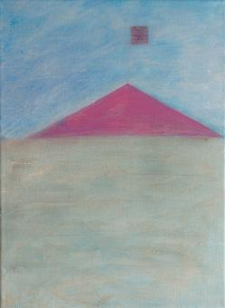 "Horizon, 2016, acrylic on canvas, 12""x9"""