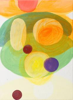 "Nearly Pure Tones, 2016, acrylic on canvas, 12""x9"""
