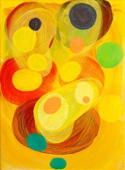 "Cluster, 2016, acrylic on canvas, 12""x9"""