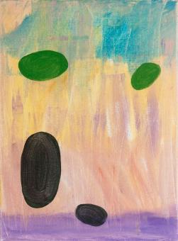"Dispersal, 2015, acrylic on canvas, 12""x9"""