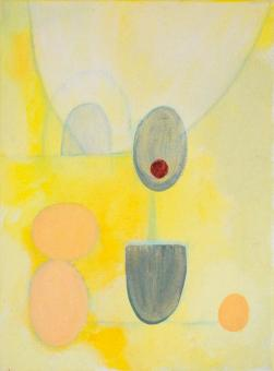 "Painting by Orin Buck, Fertile, 2017, acrylic on canvas, 12""x9"""
