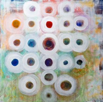 "White Albums, 2016, acrylic on canvas, 24""x24"""