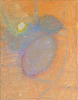 """Small Egg, 2016, acrylic on canvas, 10""""x8"""""""