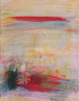 """Red Cloud, 2015, acrylic on canvas, 10""""x8"""""""