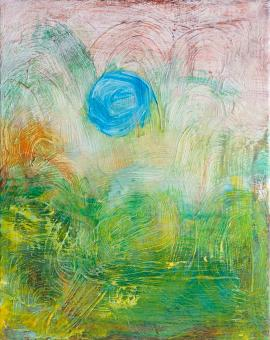 Blue Sun, 2016 painting by Orin Buck