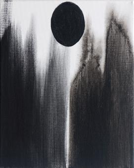 "Black Seed, 2016, acrylic on canvas, 10""x8"""