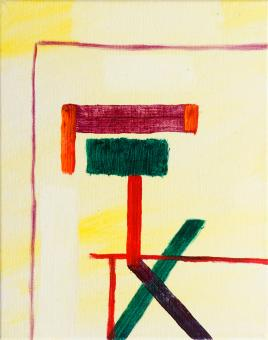 """New Structure, 2015, acrylic on canvas, 10""""x8"""""""