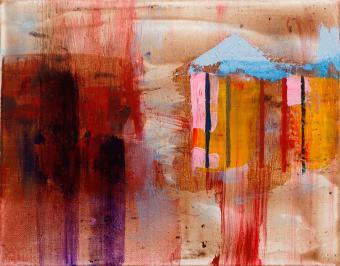 "Shelter, 2016, acrylic on canvas, 8""x10"""