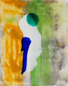 "Bird, 2016, acrylic on canvas, 10""x8"""