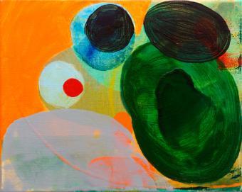"""Buddiing, 2016, Acrylic on canvas, 10""""x8"""""""