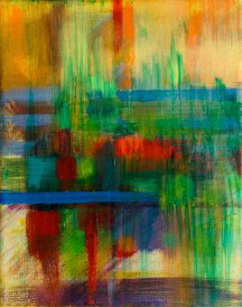 "Hot Zone, 2016, acrylic on canvas, 10""x8"""