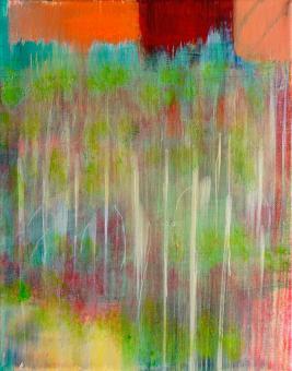 "Field, 2016, acrylic on canvas, 10""x8"""