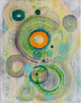 """Painting by Orin Buck, Ripples, 2017, acrylic on canvas, 10""""x8"""""""