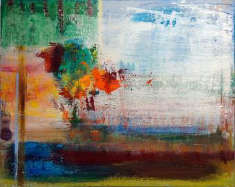 "Big Sky, 2016, acrylic on canvas, 24""x36"" painting by Orin Buck"