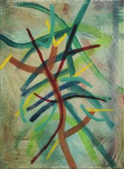 "Branch, 2015, acrylic on canvas, 12""x9"""