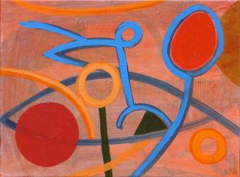 """Hop Scene, 2015, acrylic on canvas, 9""""x12"""""""