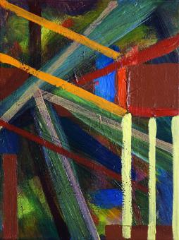 """Strong Lines, 2015, acrylic on canvas, 12""""x9"""""""