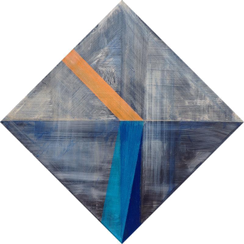 "Bent Light, 2016, acrylic on canvas, 17""x17"""