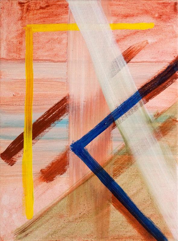 "Angle Barred, 2015, acrylic on canvas, 12""x9"""