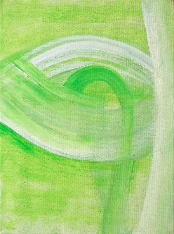 """Sprouting, 2015, acrylic on canvas, 12""""x9"""""""