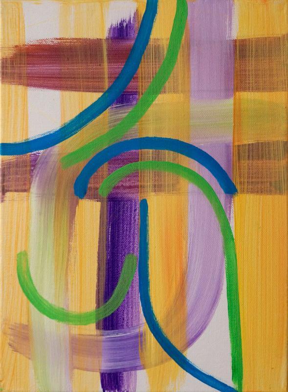 """Line Dance, 2015, acrylic on canvas, 12""""x9"""""""