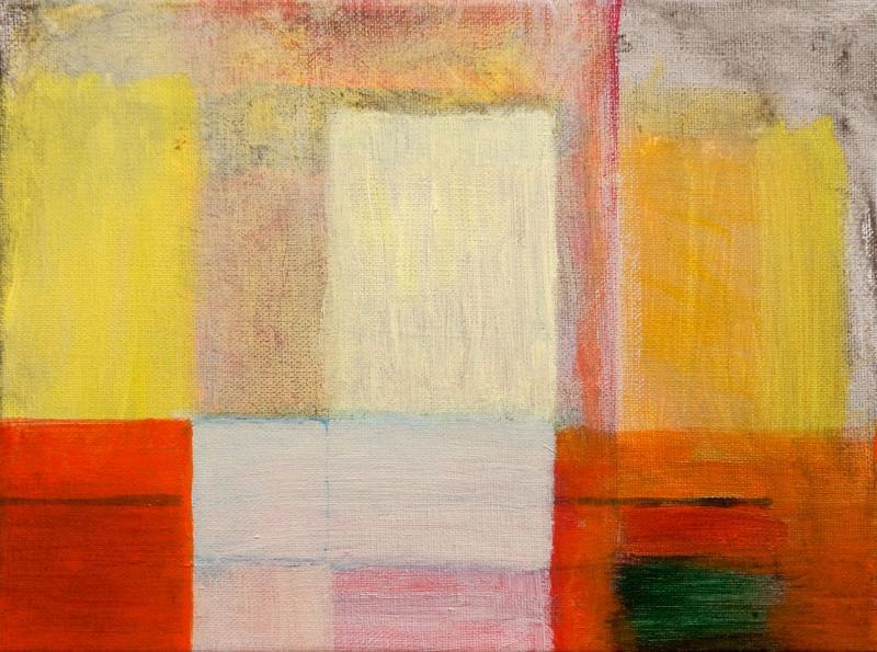 "White Cliff, 2016, acrylic on canvas, 9""x12"""