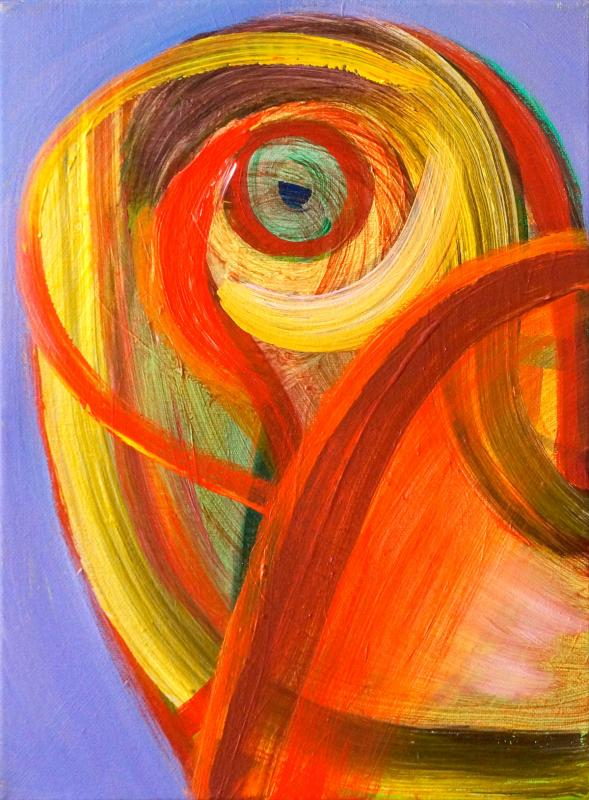 "Loci, 2015, acrylic on canvas, 12""x9"""