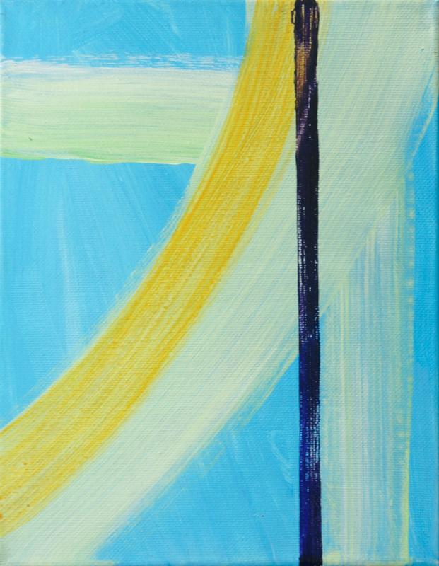 "Upward, 2015, acrylic on canvas, 12""x9"""
