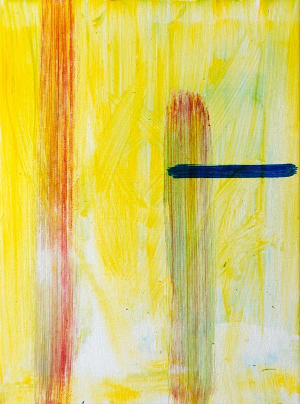 "Standing Stroke, 2016, acrylic on canvas, 12""x9"""