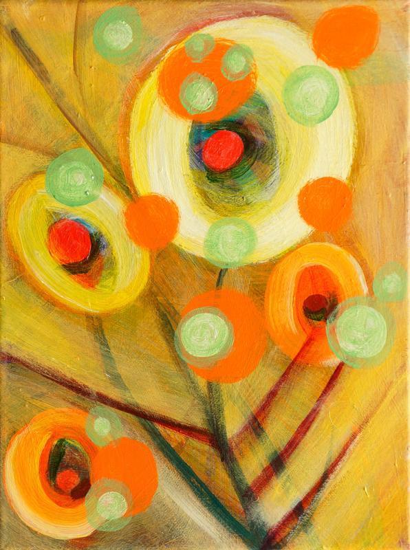 """Pollen, 2016, acrylic on canvas, 12""""x9"""""""