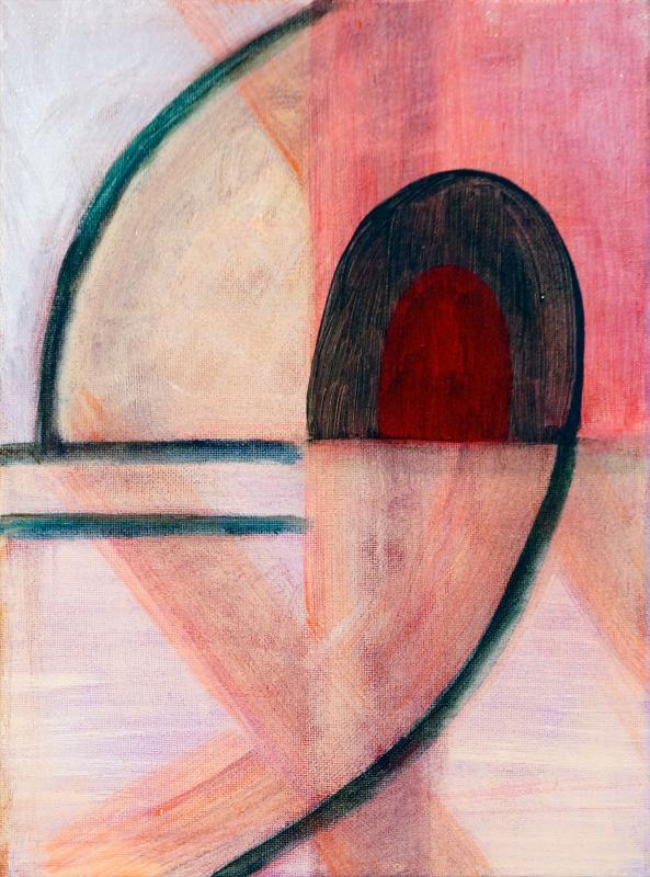 """Arc Decision, 2015, acrylic on canvas, 12""""x9"""""""