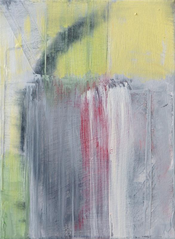 """Painting by Orin Buck, Rain World, 2017, acrylic on canvas, 12""""x9"""""""