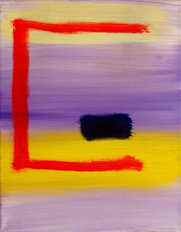 "Comfort, 2016, acrylic on canvas, 10""x8"""