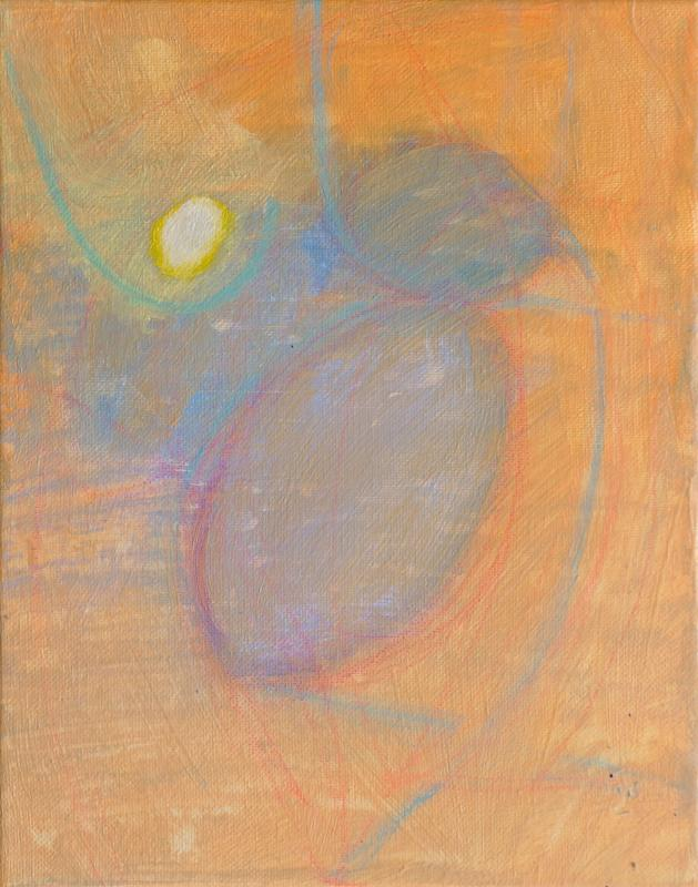 "Small Egg, 2016, acrylic on canvas, 10""x8"""