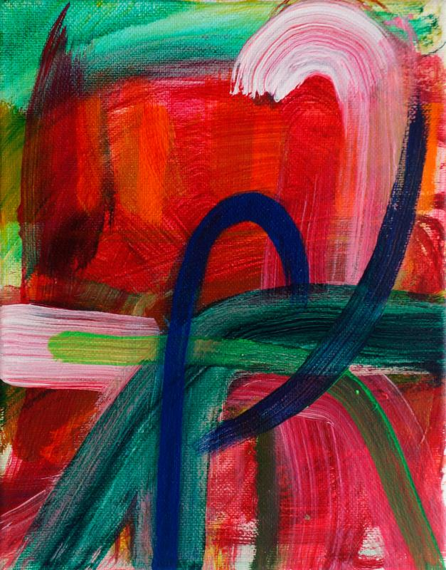 "Strong Turn, 2015, acrylic on canvas, 10""x8"""