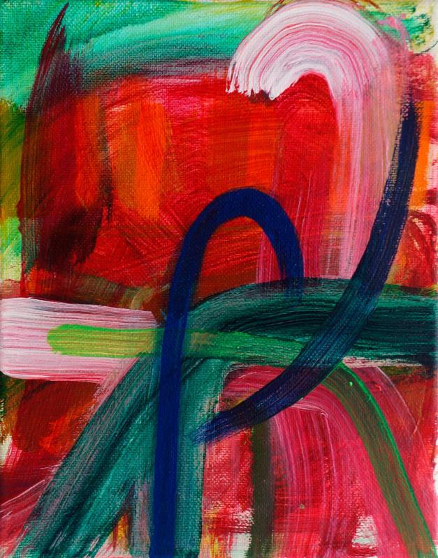 "Strong Turn, 2015, acrylic on canvas, 10""x8"""